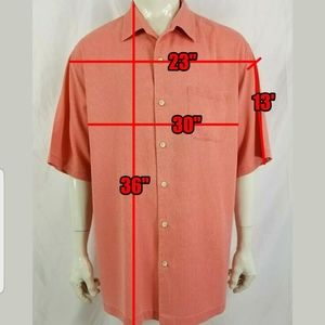 Tommy Bahama Coral Micro Check Big & Tall 2XLT